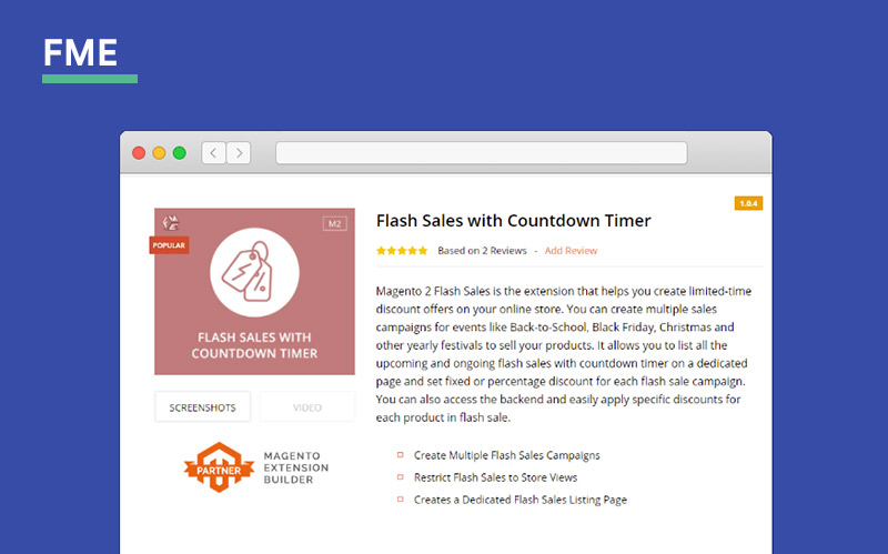 FME Magento 2 Flashsale Extension