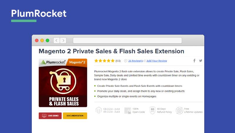 Magento 2 Flash Sales Extension plumrocket
