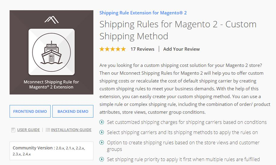 Mconnectmedia Magento 2 Shipping Rule