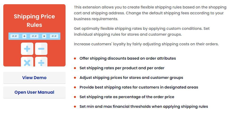 Mirasvit Magento 2 Shipping Rules