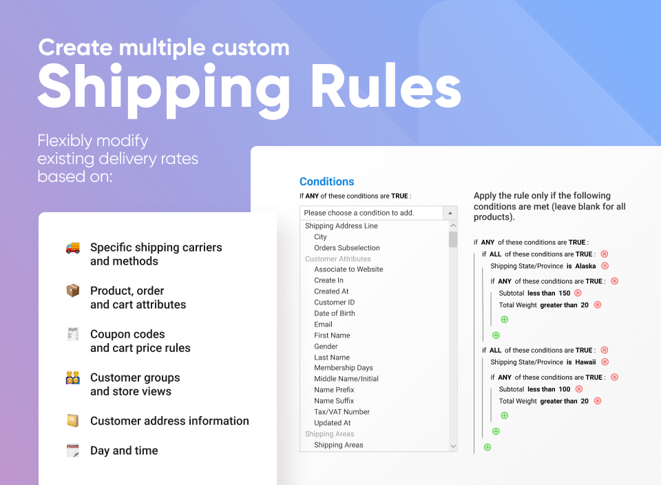 amasty magento 2 shipping rule extension