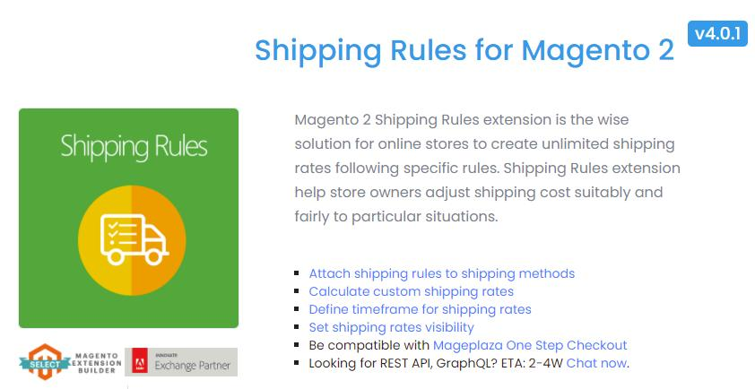 mageplaza magento 2 shipping rule extension