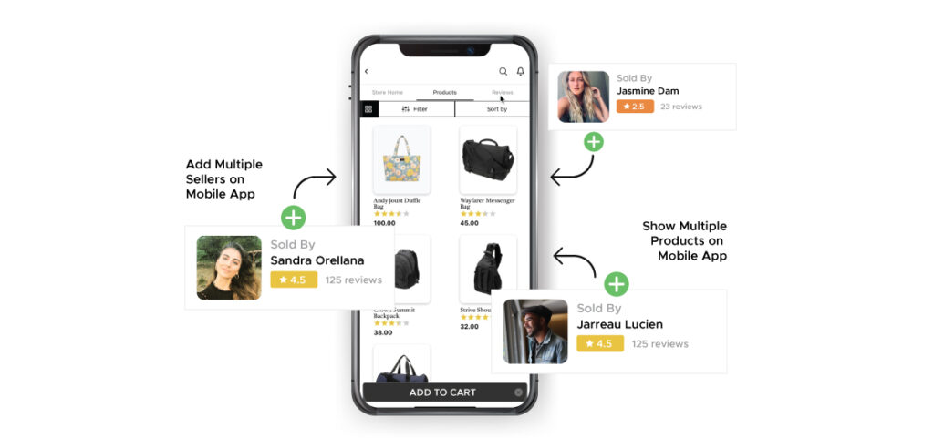 multi vendor mobile app sellers