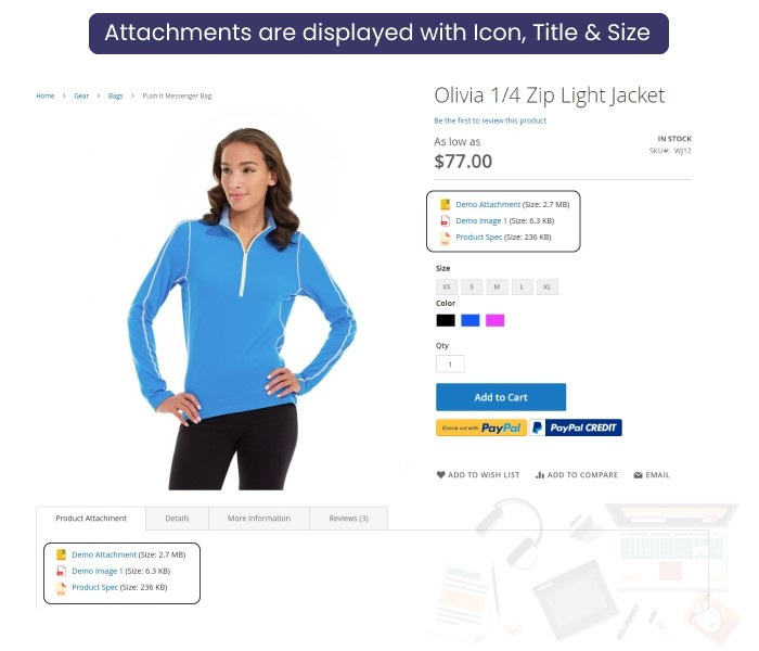 magento 2 product attachment