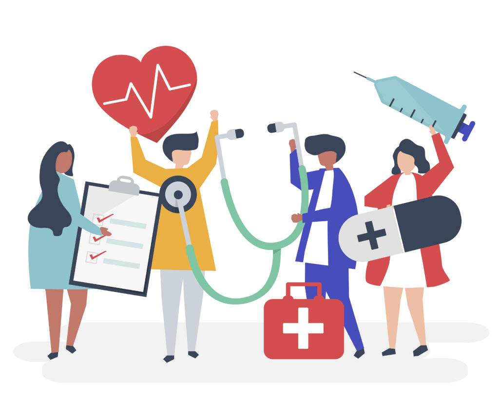 Various types of healthcare and fitness apps